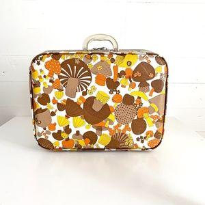 Vintage Mushroom Suitcase Psychedelic Retro Rare